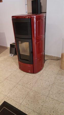 MCZ Pelletofen Suite Kachelmantel rot